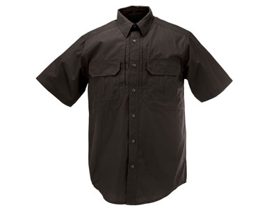 5.11 Tactical TacLite Pro Short Sleeve Shirt, Black, 2XL
