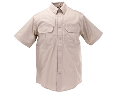 5.11 Tactical TacLite Pro Short Sleeve Shirt, Khaki, Large