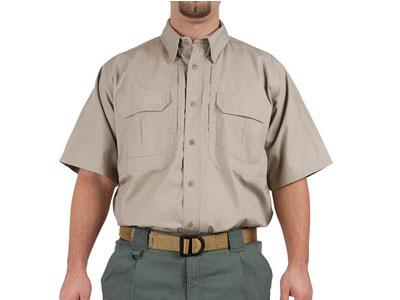 5.11 Tactical Short Sleeve Cotton Shirt, Khaki, Medium