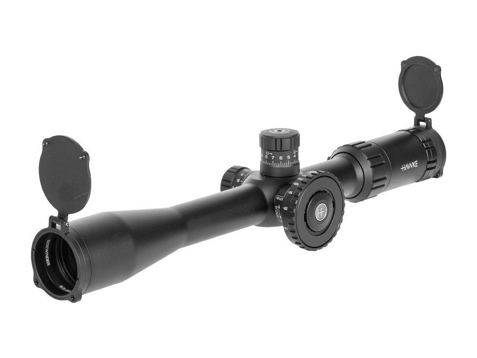 Hawke Sport Optics 6.5-20x42 AO Sidewinder Tactical Rifle Scope, Ill. 20x Half Mil-Dot Reticle, 1