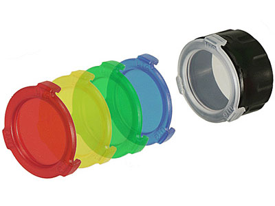 Quick-Detach Flashlight Color Lenses, 42mm, 5 Lenses