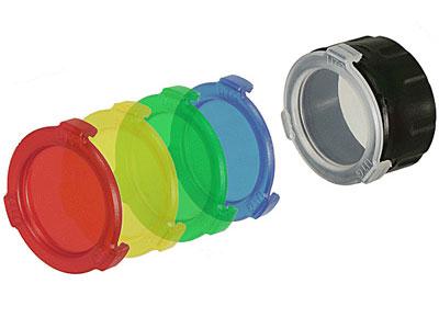 Quick-Detach Flashlight Color Lenses, 34mm, 5 Lenses