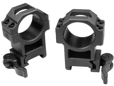 30mm Quick-Detach Rings, High, Weaver/Picatinny, See-Thru, Compact, Law-Enforcement Grade