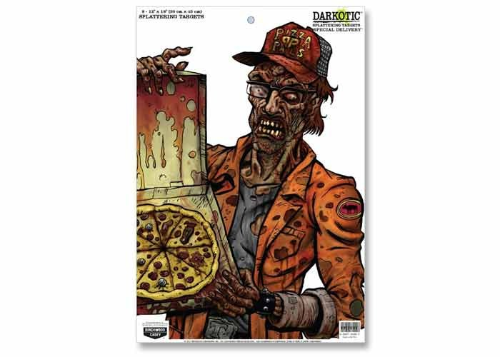 "Birchwood Casey Zombie Darkotic Special Delivery Splattering Target, 12""x18"", 8ct"