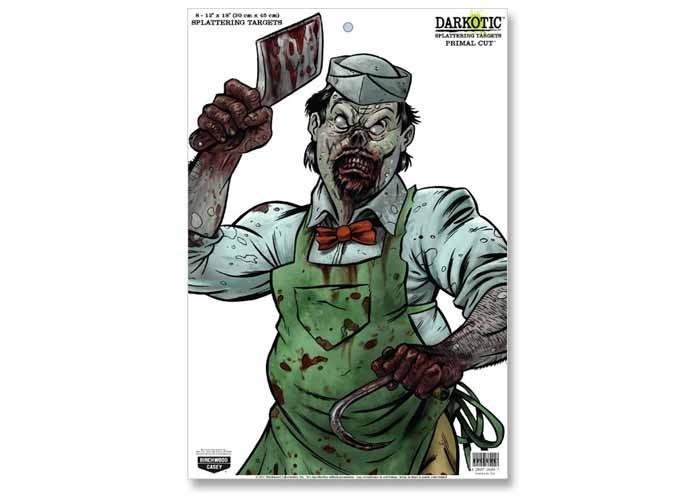"Birchwood Casey Zombie Darkotic Primal Cut Splattering Target, 12""x18"", 8ct"