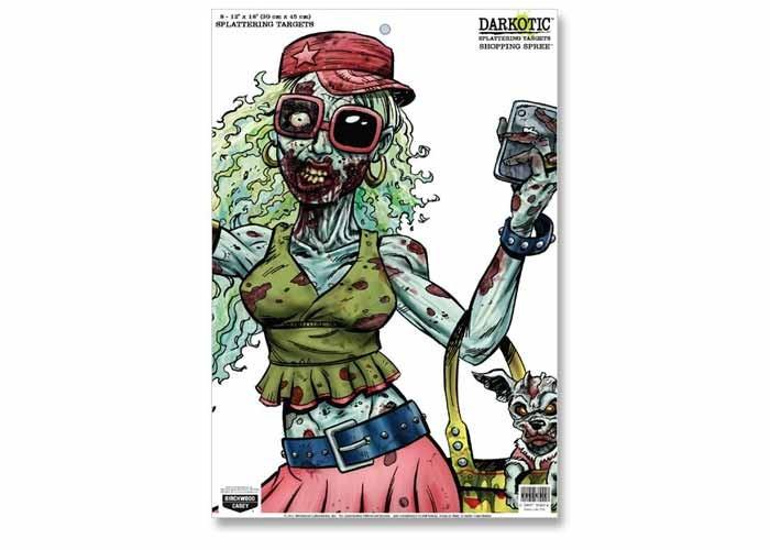 "Birchwood Casey Zombie Darkotic Shopping Spree Splattering Target, 12""x18"", 8ct"