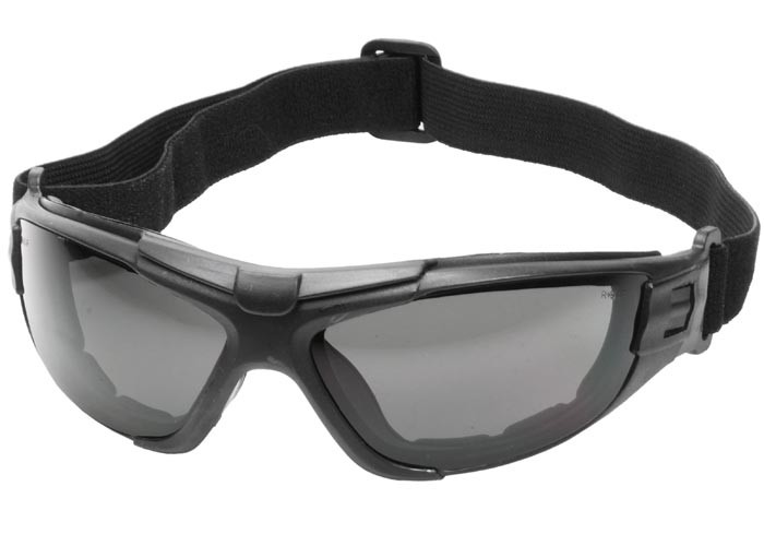 Radians 4-in-1 Foam-Lined Airsoft Safety Glasses, Smoke Lenses, Removable Strap & Temples