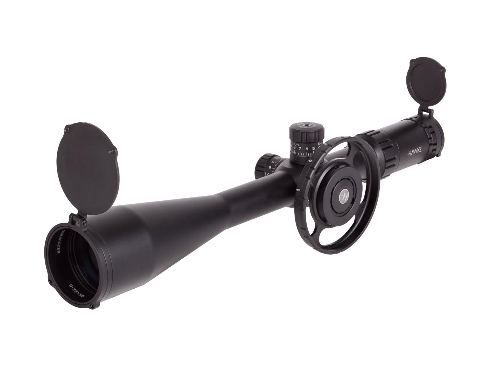 Hawke Sport Optics Sidewinder 30 8-32x56 AO Rifle Scope, Ill. 20x 1/2 Mil-Dot Reticle, 1/4 MOA, 30mm Tube