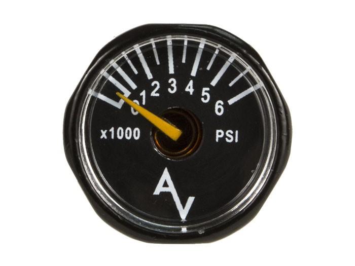 Air Venturi Air Pressure Gauge, 6,000 psi