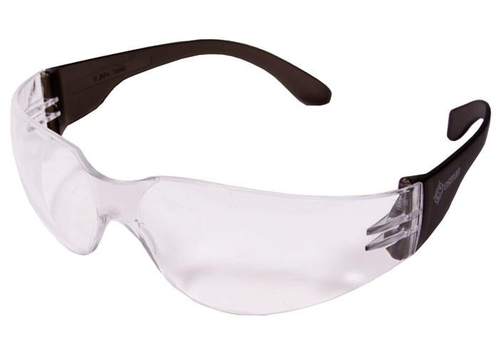 Crosman Safety Glasses, Clear Lens, Black Temples