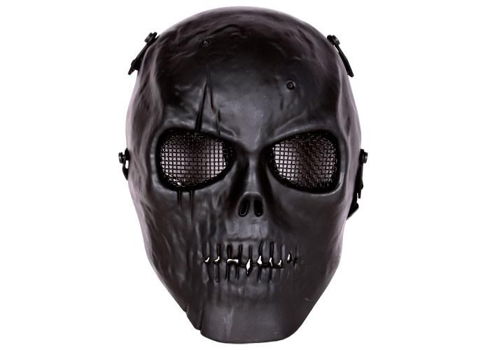 Bravo Tactical Full Face Skull Mask, Black