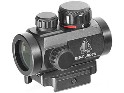 Leapers UTG ITA Red-Green Dot Sight, 4 MOA, Quick-Detach Lever Lock Picatinny Mount