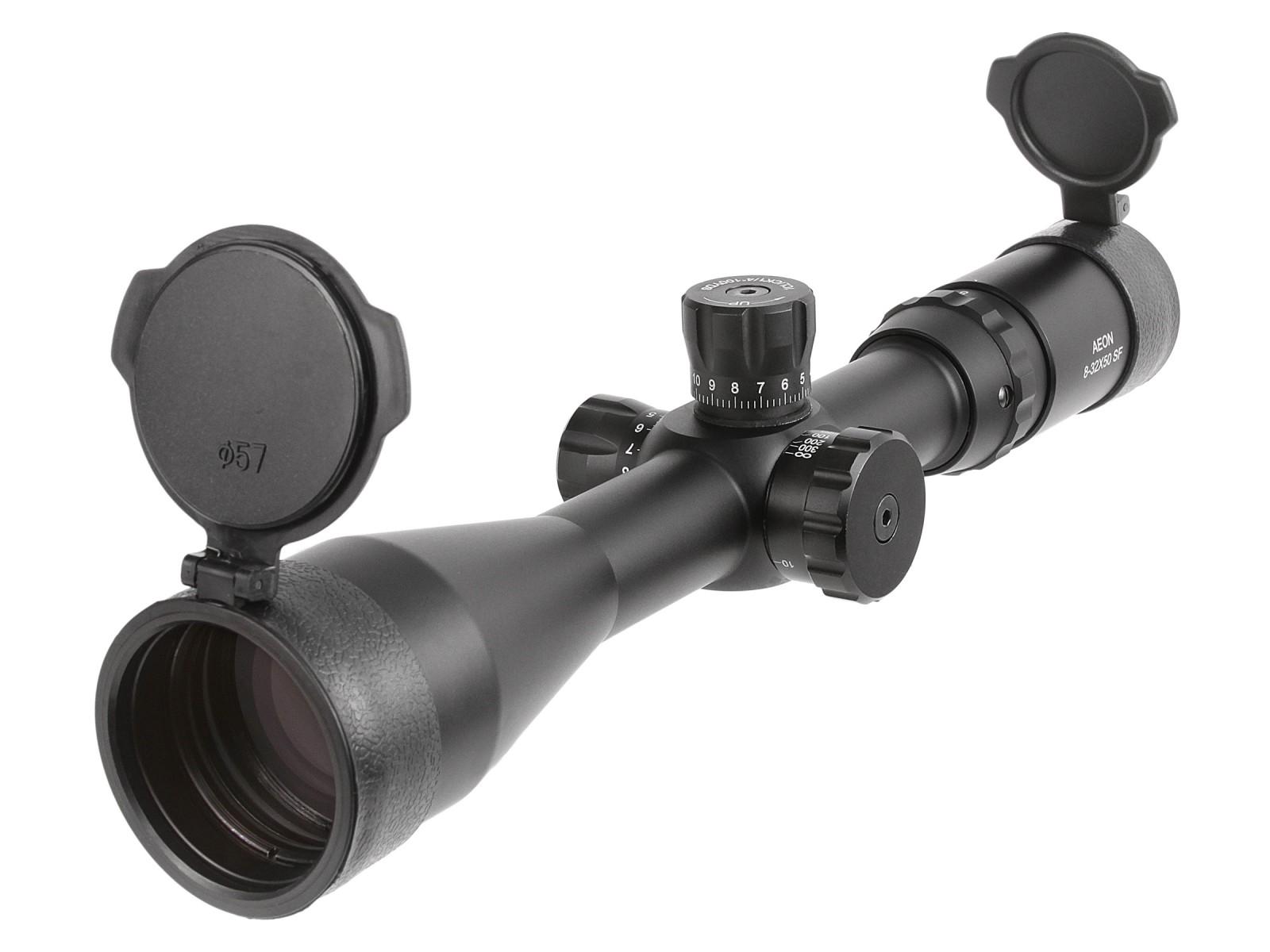Aeon 8-32x50 AO Classic Rifle Scope, Trajectory Reticle, 1/4 MOA, 30mm Tube
