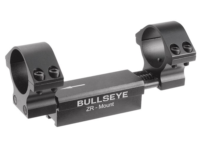 "Bullseye ZR 1-Pc Mount, 30mm Rings, 11mm Dovetail, 0.04"" Droop Compensation, Recoil Compensation"