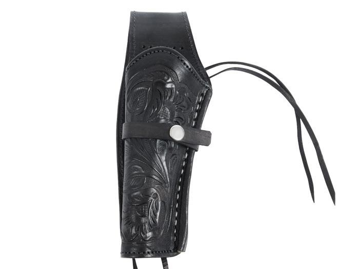 Hand-Tooled Leather Holster.