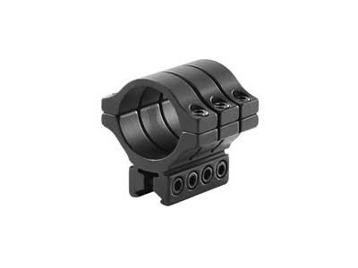 "BKL Single 30mm Triple Strap Ring, 3/8"" or 11mm Dovetail, 1.53"" Long, Low, Black"