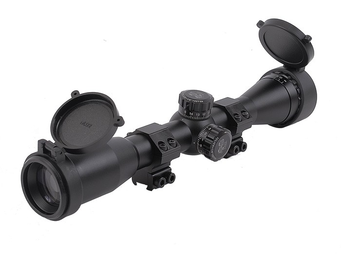Leapers UTG 4x32 AO True Hunter Rifle Scope, Mil-Dot Reticle, 1/4 MOA, 1  Tube, 11mm Dovetail Rings