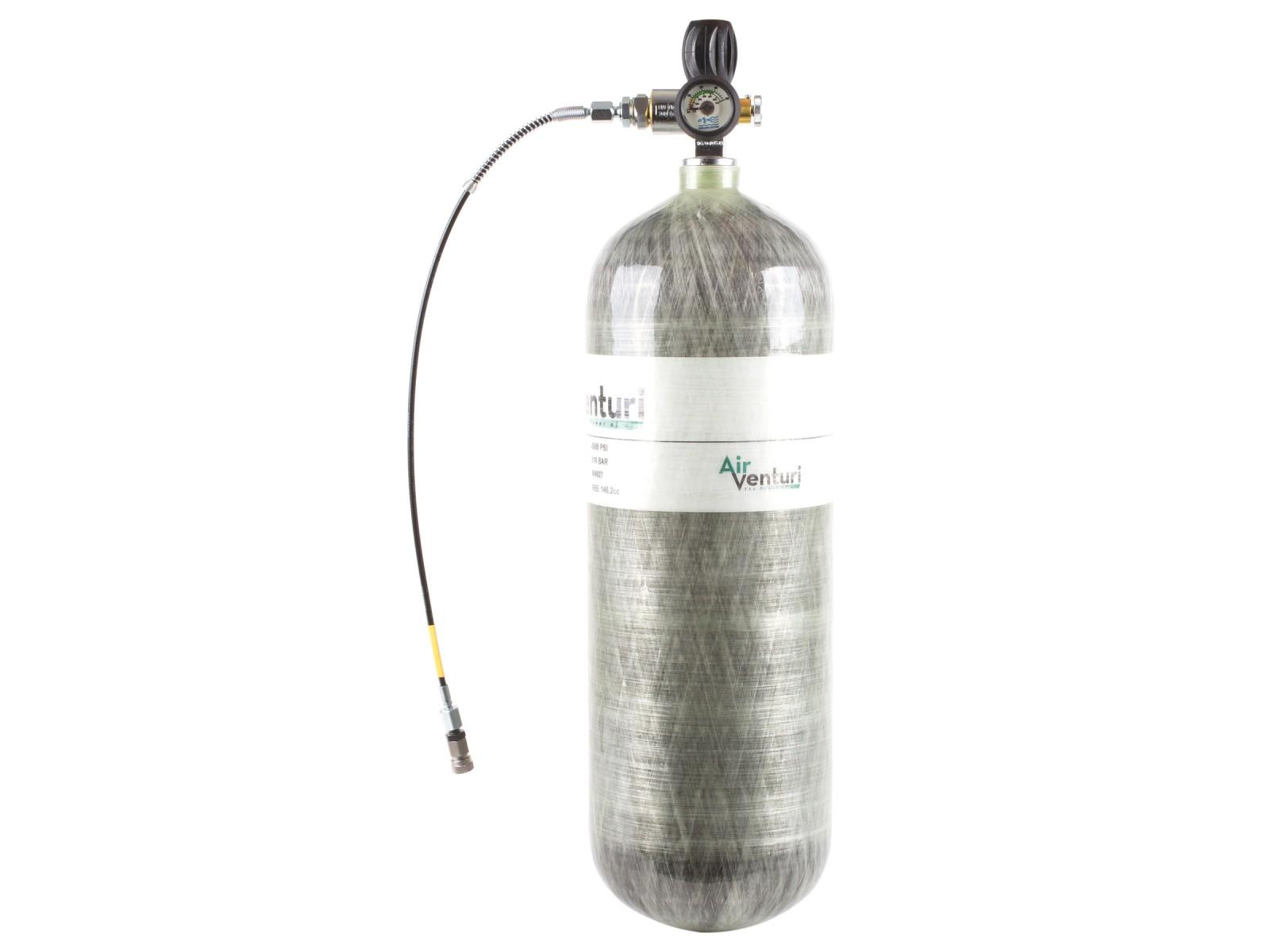 Air Venturi PCP tank, 4500 psi/300 bar, 98 cu ft
