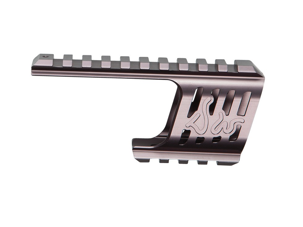 ASG Custom CNC Rail Mount, Steel Grey