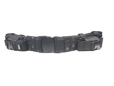 UTG Heavy Duty Elite Law Enforcement Pistol Belt with Dual Mag Pouches - Black