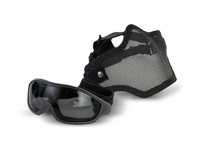 Swiss Arms Wire Mesh Mask & Goggles