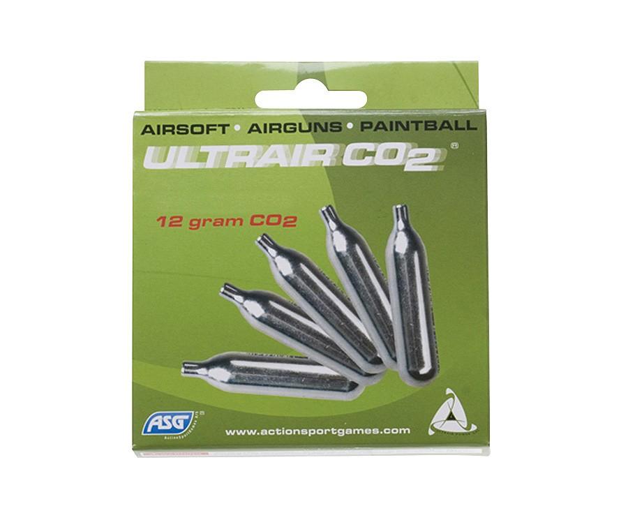 ASG UltraAir 12g CO2 Cartridges, 5ct