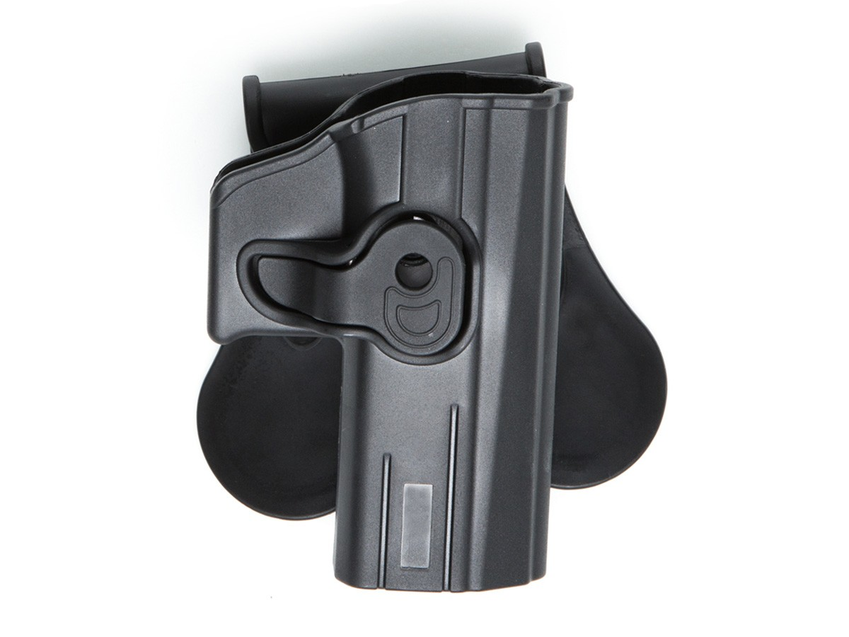 ASG/Strike Systems Paddle Polymer Holster for CZ P-07, P-09, SP-01, & Bersa Thunder 9 Pro Air Pistols, Black