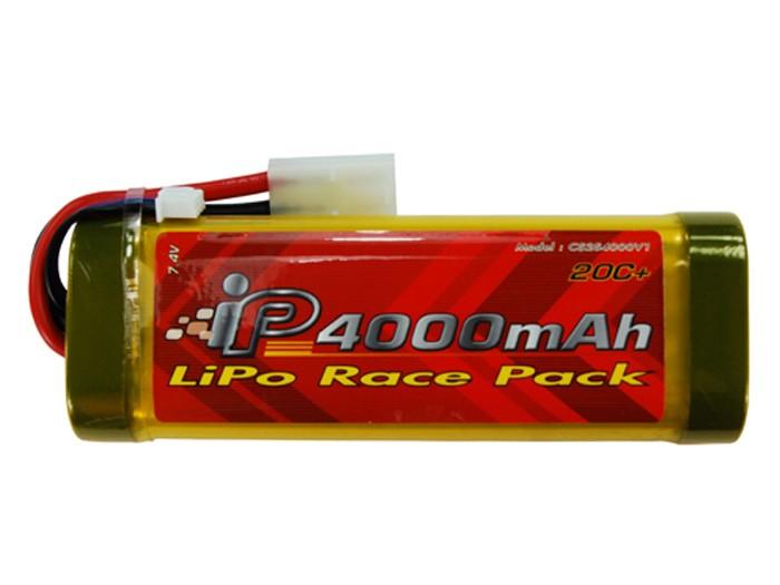 TSD/Intellect 7.4V 4000 mAh 20C LiPo AEG Battery, Large Pack