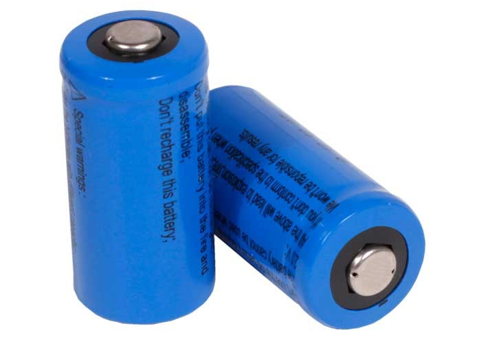 JY CR123A 3V Lithium Batteries, 2 PCs per Pack