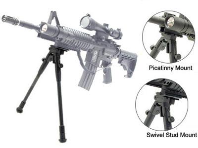 UTG Universal Bipod, Telescoping Legs, Picatinny & Sling Swivel Mount