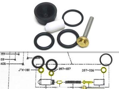 Benjamin & Sheridan Repair Kit, Fits Some Post-1995 Multi-Pumps w/Cartridge Valve