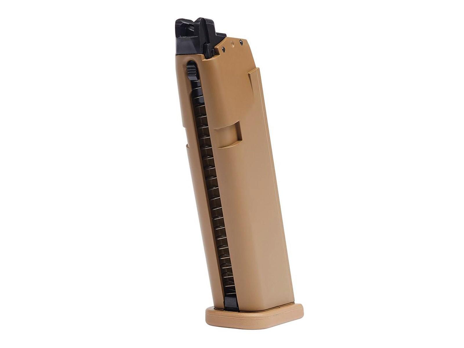 Glock G19X Airsoft GBB 20rd Pistols Magazine, Tan