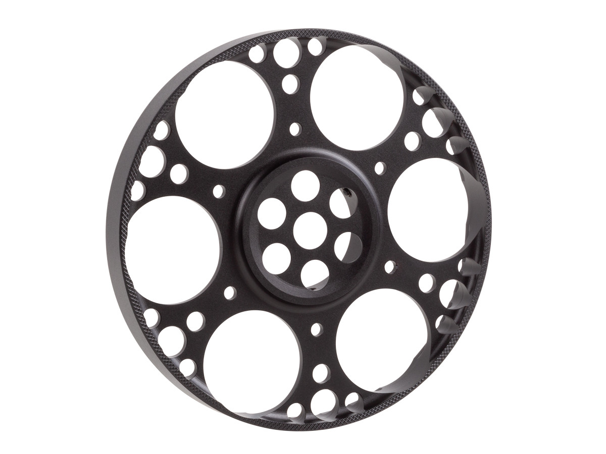 Falcon Optical Systems 125mm Aluminum Sidewheel, Fits T50 and X50 Riflescopes