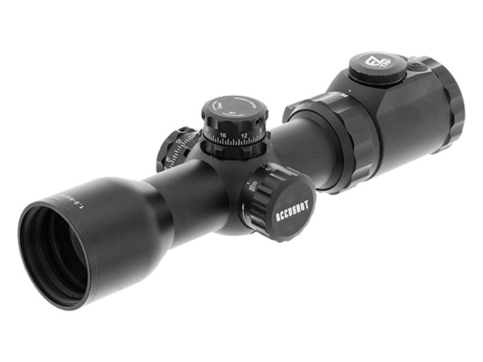 UTG OP3 1.5-6×36 AO SWAT Crossbow Scope, EZ-TAP, Ill. BDC Reticle, 30mm Tube, Picatinny/weaver rings