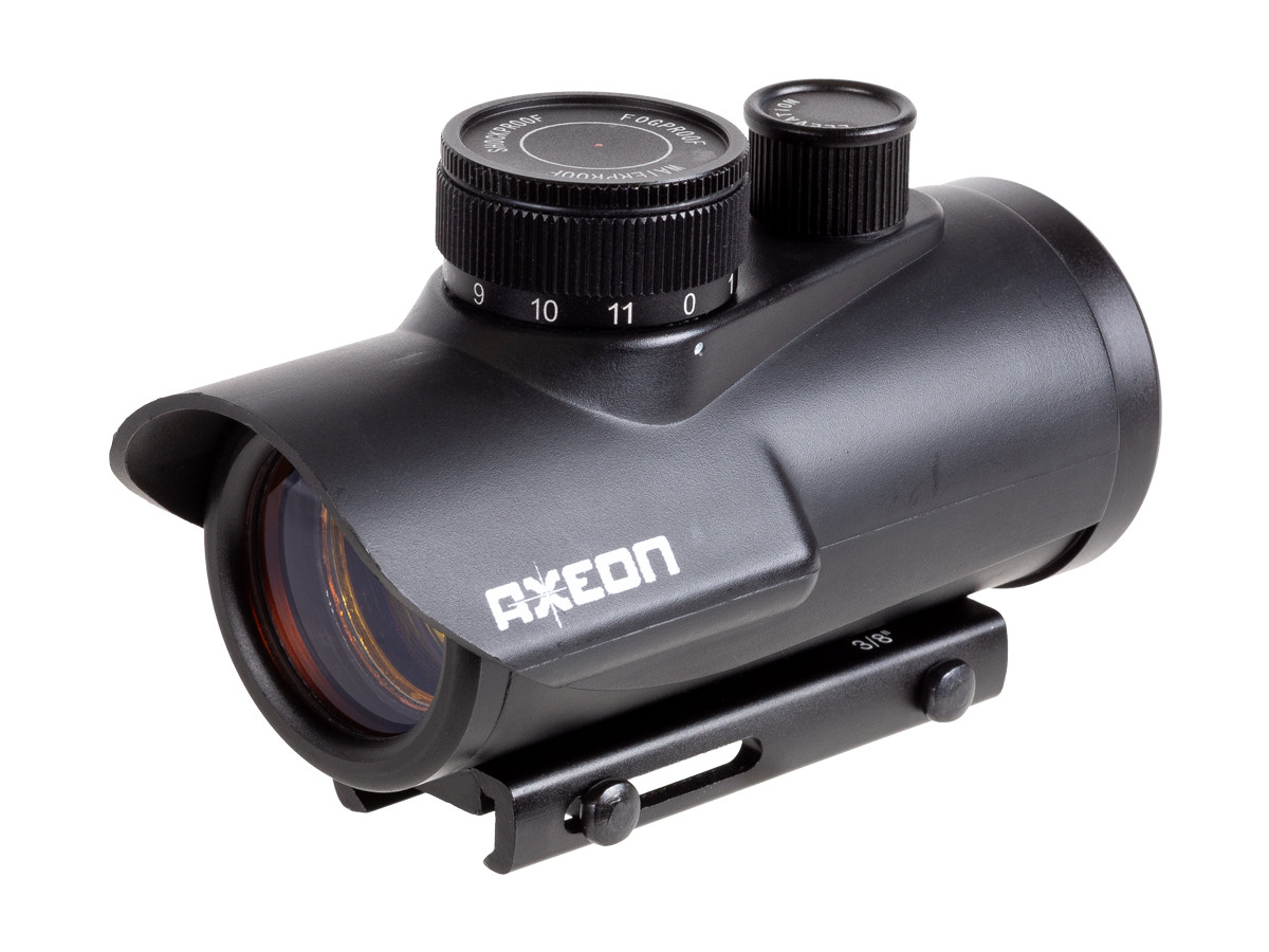 Axeon 1XRDS Red Dot Sight, Weaver and 11mm dovetail mount