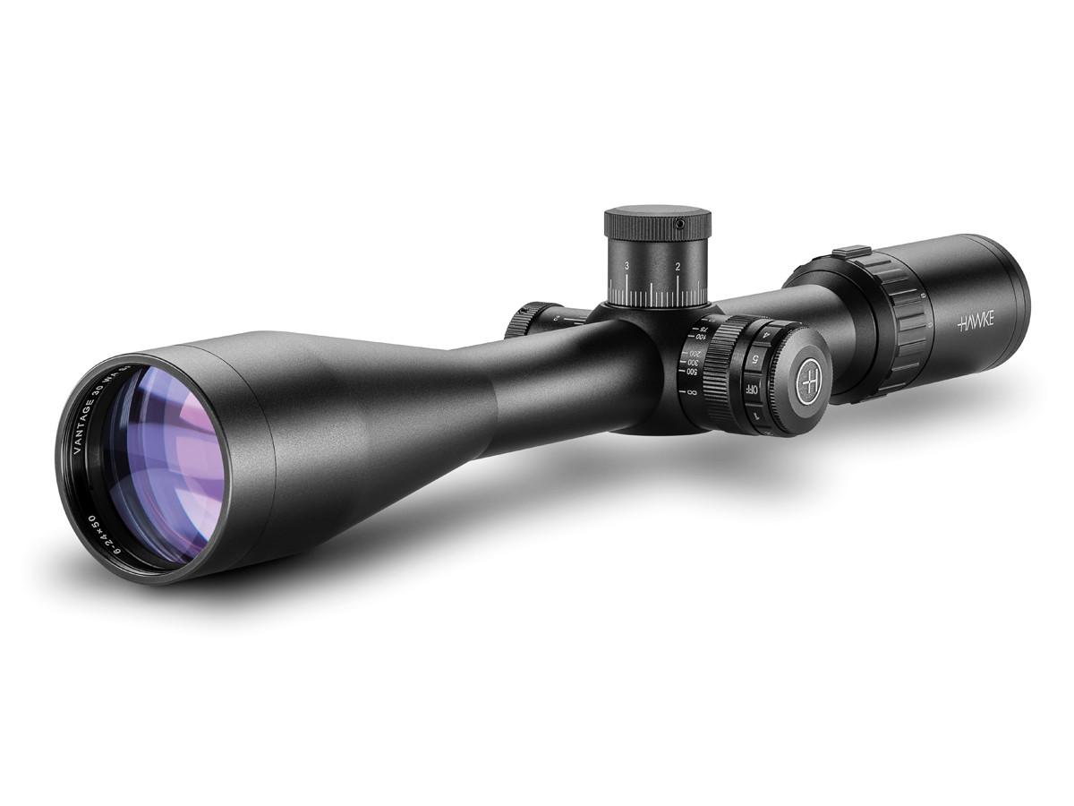 Hawke 6-24x50 WA Vantage Riflescope IR SF 10x1/2 Mil Dot, 1/10 MRAD, 30mm Tube
