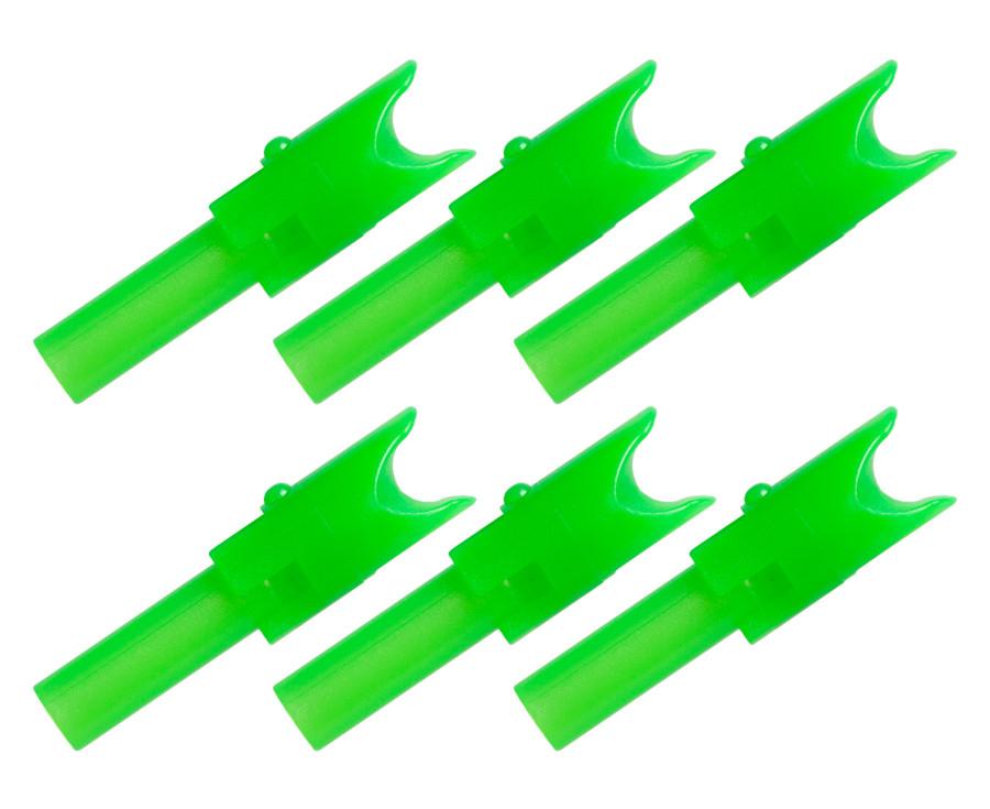 TenPoint Alpha-Nocks - Green Molded - 6 Pack