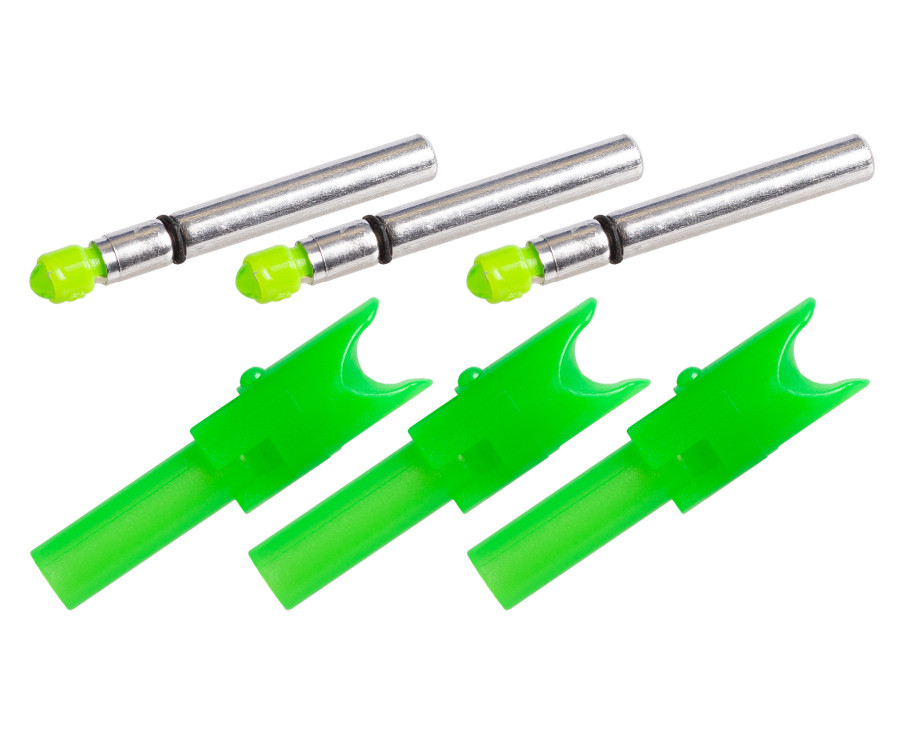 TenPoint Alpha-Brite Lighted Nock System - Green - 3 Pack
