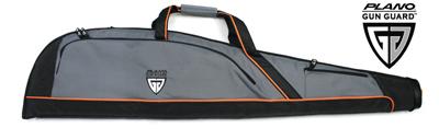 "Plano 48"" Soft Case with Gun Guard, Grey with Orange Detail"