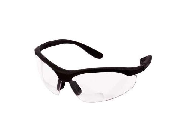 Radians Pro RX 2.5+ Bi-Focal Shooting Glasses, Clear Lenses, Adj. Temples