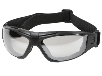 Radians 4-in-1 Foam-Lined Airsoft Safety Glasses, Ice Lenses, Removable Strap & Temples