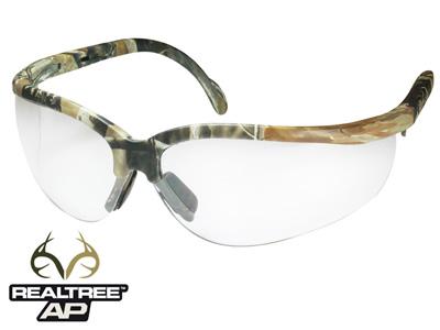 Radians Journey AP Safety Glasses, Realtree AP Camo Frame, Anti-Fog Clear Lenses