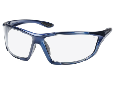 Smith & Wesson Safety Glasses, Blue Frame, Clear Lenses