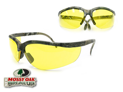Remington Safety Glasses, Mossy Oak New Breakup Camo Frame, Amber Lenses, Adjustable