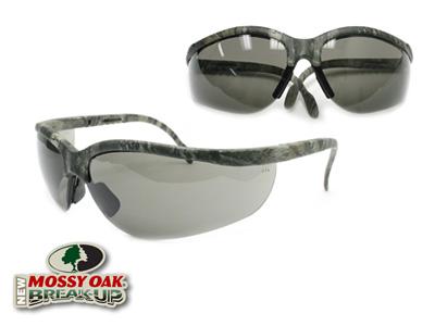 Remington Safety Glasses, Mossy Oak New Breakup Camo Frame, Smoke Lenses, Adjustable