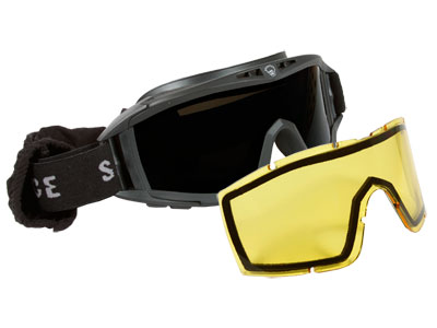 Save Phace Elite Series Tactical Goggles, Dark Smoke & Yellow Lenses