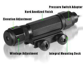 UTG Deluxe Tactical Green Laser Sight, Integral Weaver/Picatinny Mount