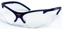 Smith & Wesson Code 4 Safety Glasses, Clear Lenses, Black Frame