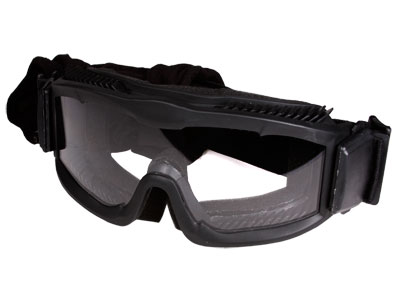 Tactical Crusader Airsoft Goggles With Seal, Single Lens, Black