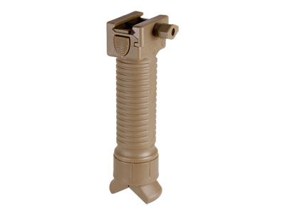 Tactical Crusader Vertical Grip Bipod, Weaver Rail Support, Tan